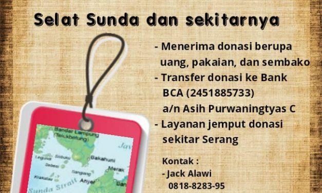 Rumah Dunia dan Motor Literasi Buka Donasi Korban Tsunami Banten-Lampung