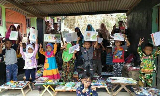 Tingkatkan Minat Baca di Wilayah Tertinggal, FTBM Cilegon Bantu TBM Batu Lawang