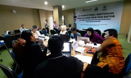 Penulis Buku Non Fiksi dan Editor di Banten Lakukan Uji Kompetensi BNSP