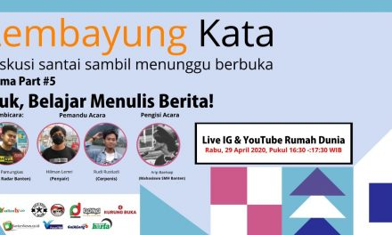 Akibat Covid-19, Program World Book Day Beralih ke Platform Digital