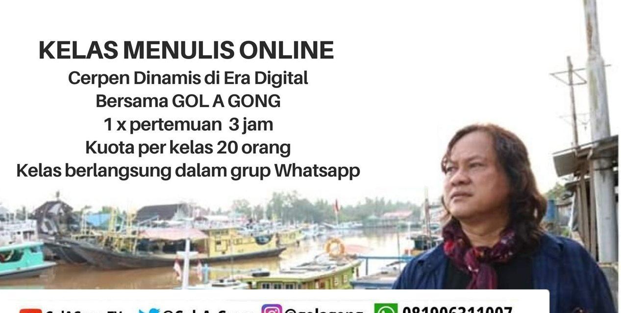 Kelas Menulis Online Bersama Gol A Gong Bikin Peserta Ketagihan
