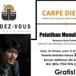 Rendez Vous Cafe Gelar Pelatihan Menulis Puisi