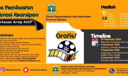 DPK Banten Adakan Lomba Film Animasi Kearsipan Berhadiah Jutaan Rupiah
