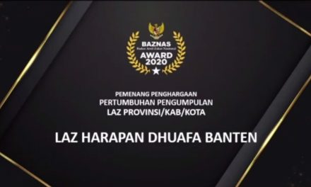 Laz Harfa Raih Penghargaan Pertumbuhan Pengumpulan ZIS Terbaik Di BAZNAS Award 2020