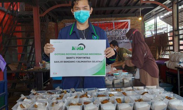 Tak Kunjung Surut, LAZ Harfa Salurkan Bantuan untuk Banjir Kalimantan Selatan
