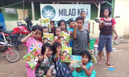 Milad Avoten, Gelar Lapak Buku di Dua Kampung Terdampak Banjir