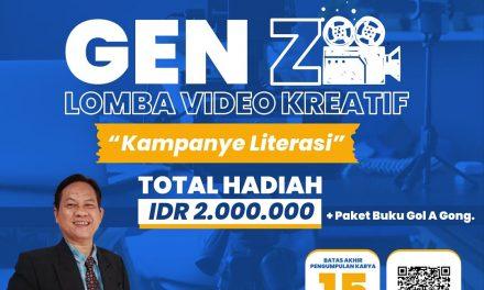 Ayo Daftar! Lomba Video Kreatif Duta Baca Indonesia Resmi Digelar